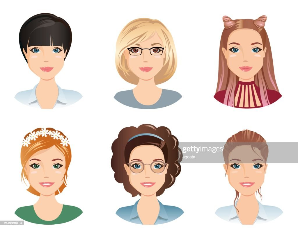 Different hairstyles, female