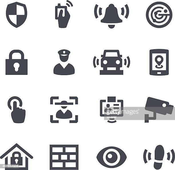 Different icons that represent security