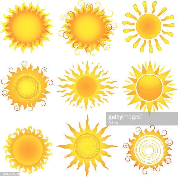 ilustrações, clipart, desenhos animados e ícones de suns - luz solar