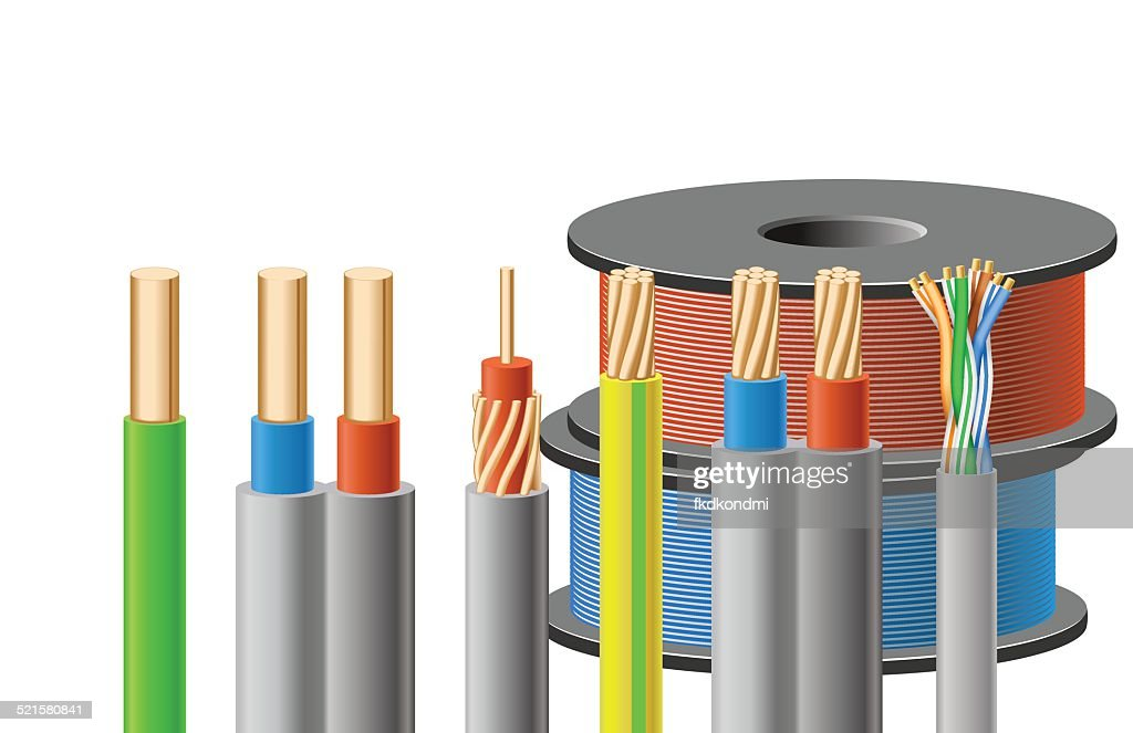 Different kinds of cables.