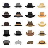 Different male hats