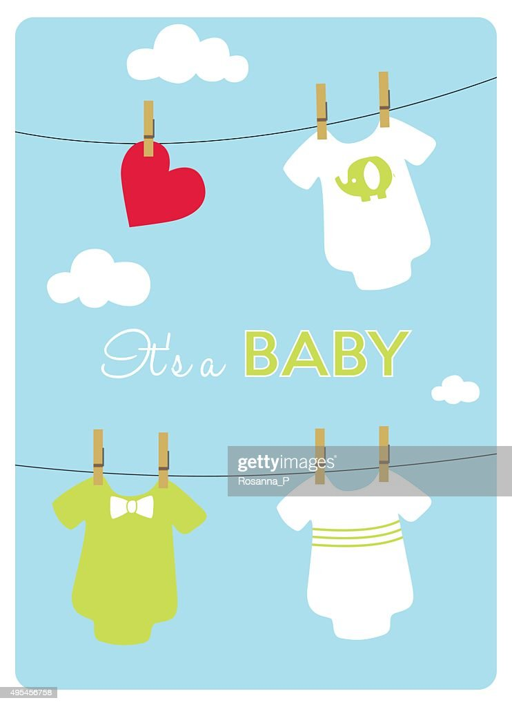 different models of bodysuits hanging for a baby
