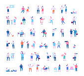 Different people characters big vector set.