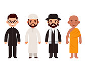 Different religion priests