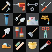 Different Repair Theme Flat Icons