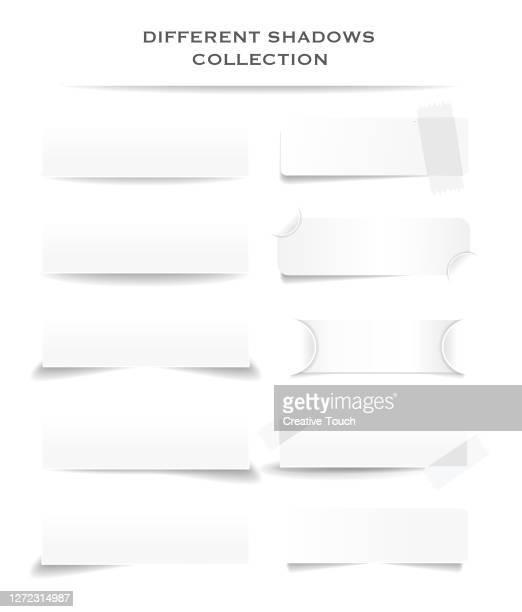 ilustraciones, imágenes clip art, dibujos animados e iconos de stock de colección different shadows - sombra