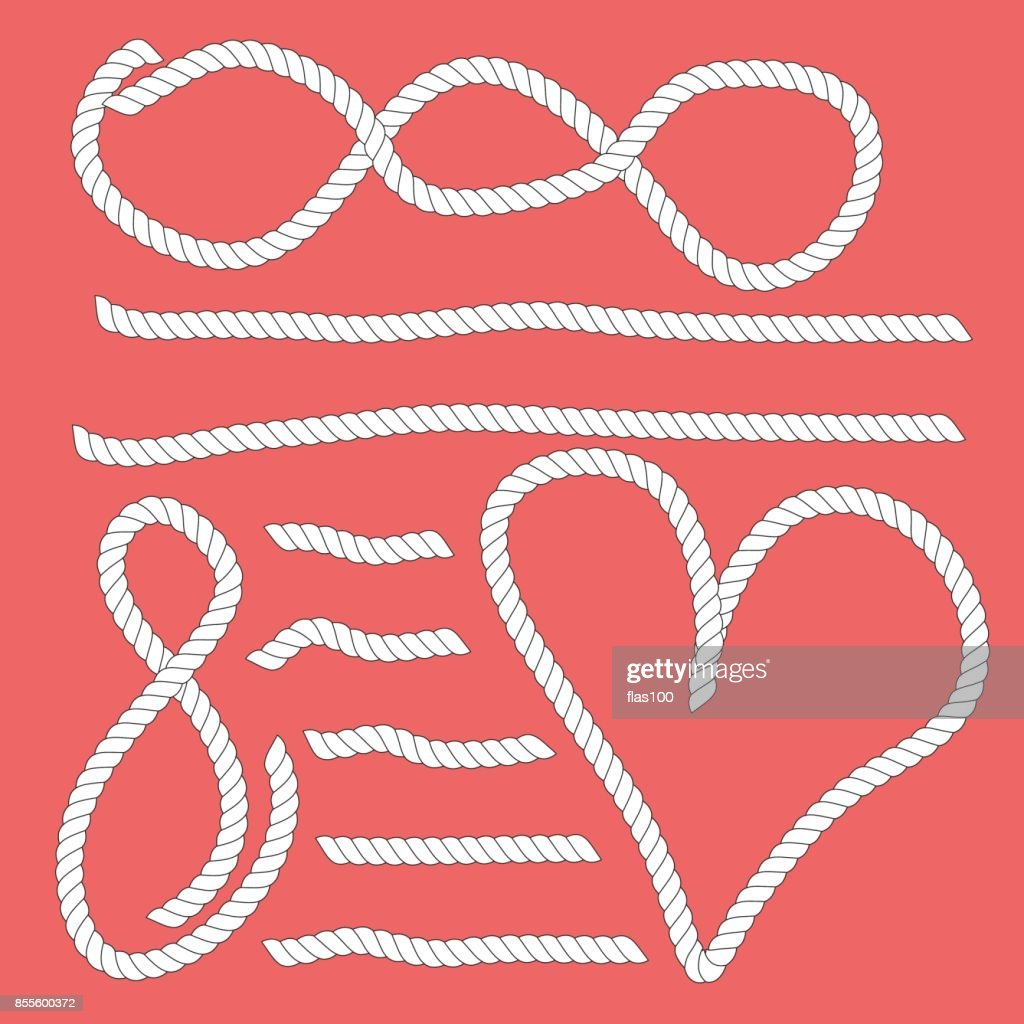 Different Shapes Size White Ropes Hearts Symbol Vector Art Getty
