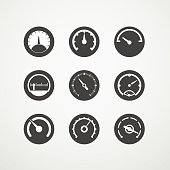 Different slyles of speedometers