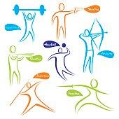 different sport icon or symbol design vector