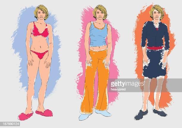 ilustraciones, imágenes clip art, dibujos animados e iconos de stock de estilos diferentes - tanga