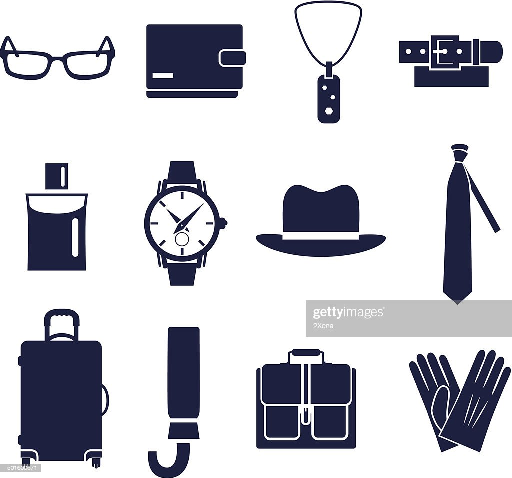 Different types of man's accessories