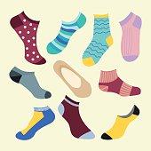 Different types of socks- Illustration