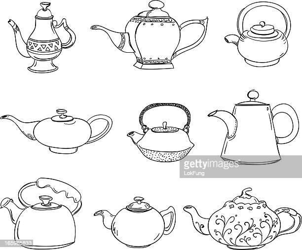 Different types of teapots
