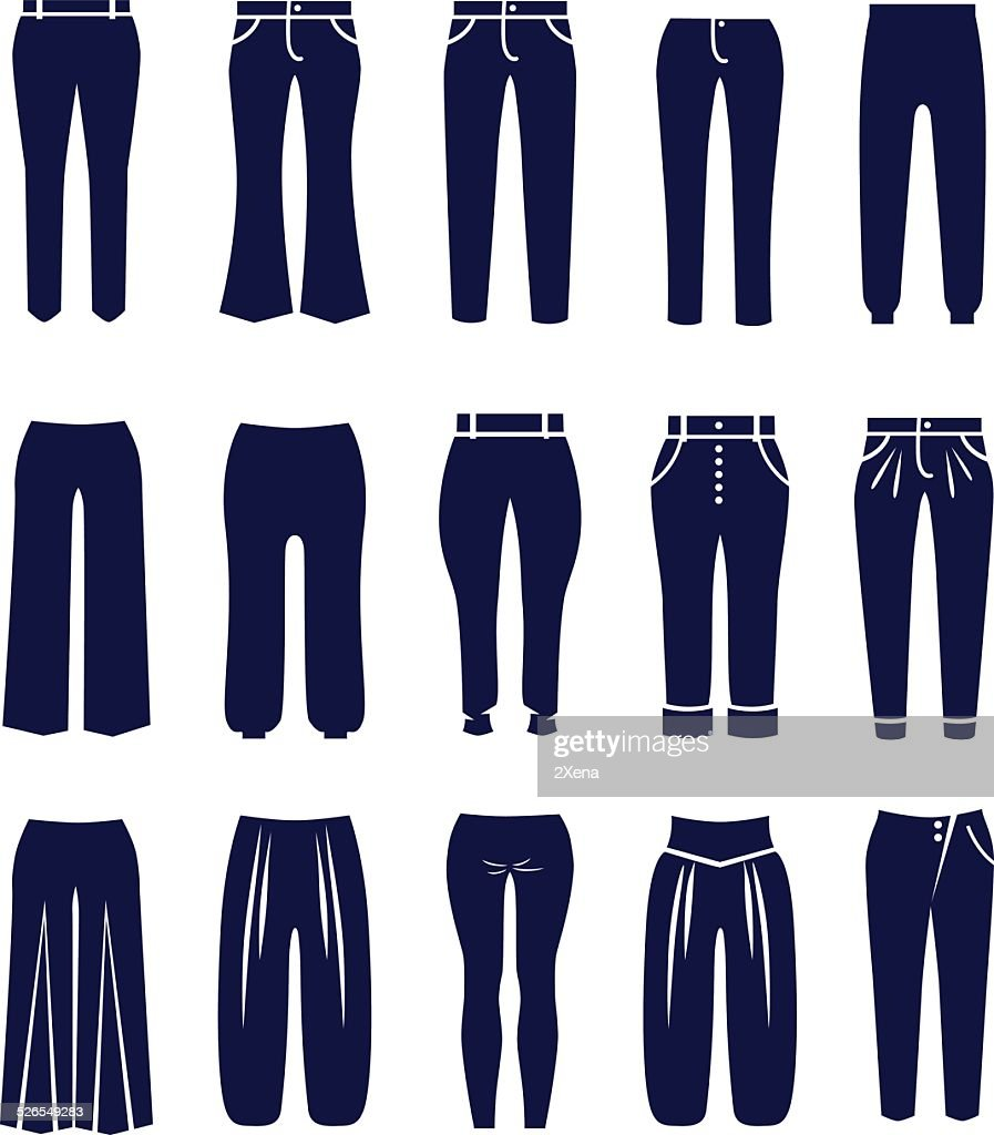 Different types of women trousers and pants