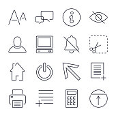 Different universal icons for apps, sites, programs and others. Editable Stroke