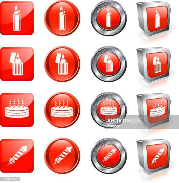 different use for fire lighter royalty free vector button set - arugula stock illustrations, clip art, cartoons, & icons