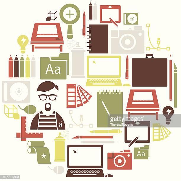 Graphique Ensemble d'icônes de Design