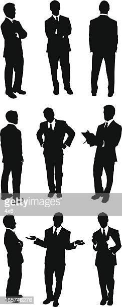 Different views of businessmen