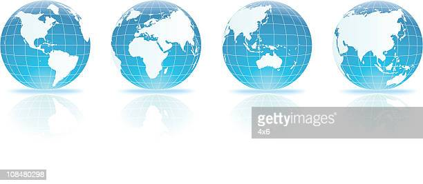 Verschiedene Ausblicke auf die Welt