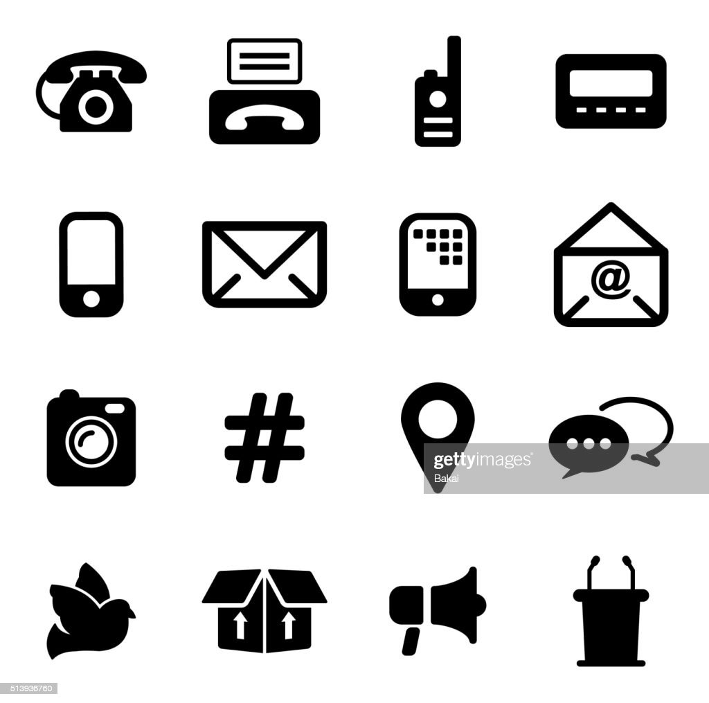Different Ways Of Communication Icons