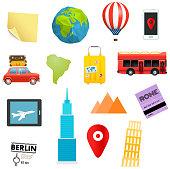 Different web abd mobile messenger stickers. Vector illustration