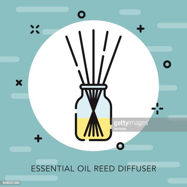 diffuser open outline naturopathy icon - aromatherapy stock illustrations, clip art, cartoons, & icons