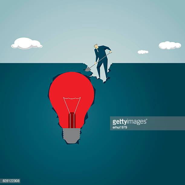 digging, discovery,exploration, strategy,  finding,looking,treasure, solution - hidden stock illustrations, clip art, cartoons, & icons