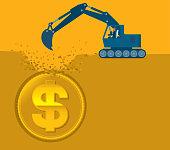 Digging Money - Bulldozer