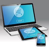 Digital Age Shopping - Laptop, Tablet and Smart phone