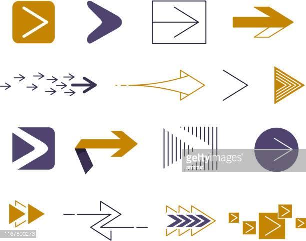 digital arrows - arrow bow and arrow stock illustrations