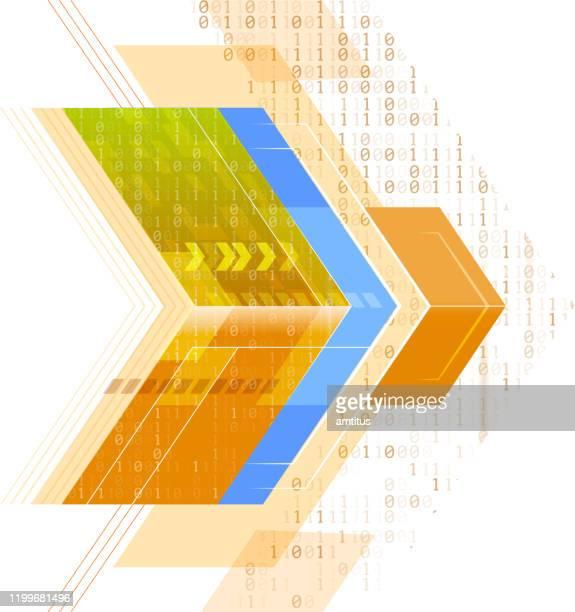 digital arrows - taking off activity stock illustrations