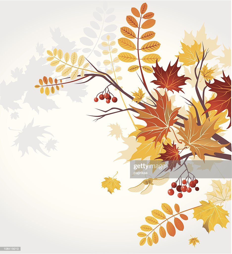 Digital background with autumnal leaves
