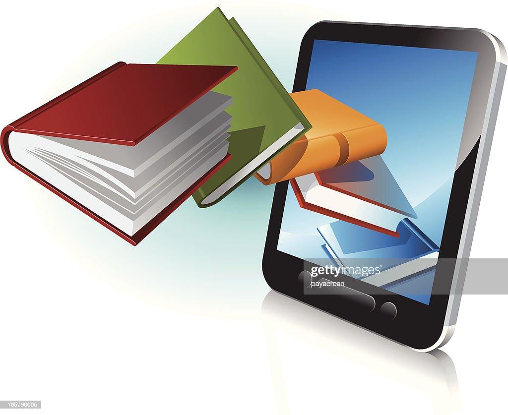 digital book reader : stock illustration