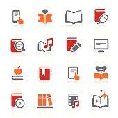 Digital books and literature icons   alto series