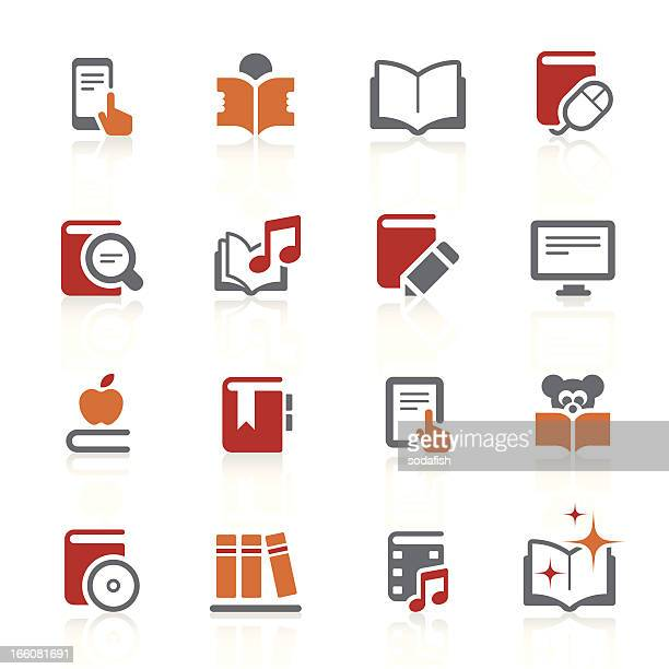 digitale bücher und literatur-icons/alto series - enciclopedia stock-grafiken, -clipart, -cartoons und -symbole