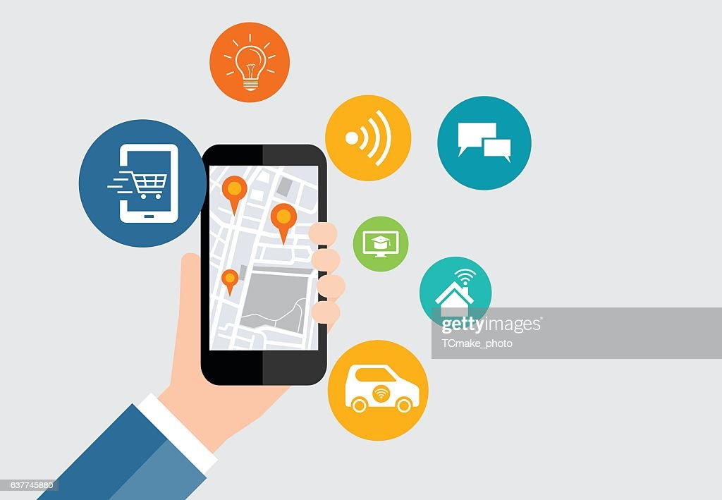 digital business and social connection on mobile application
