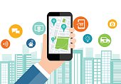 digital business and social smart city connection concept