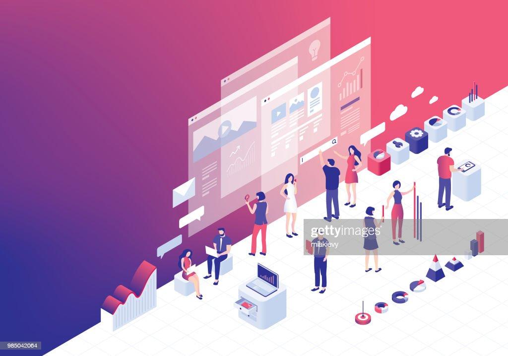 Digital business strategies : stock illustration