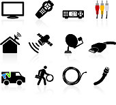 digital cable satellite television installation and equipment