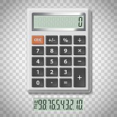 Digital calculator with numbers