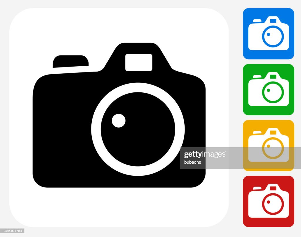 Digital Camera Icon Flat Graphic Design