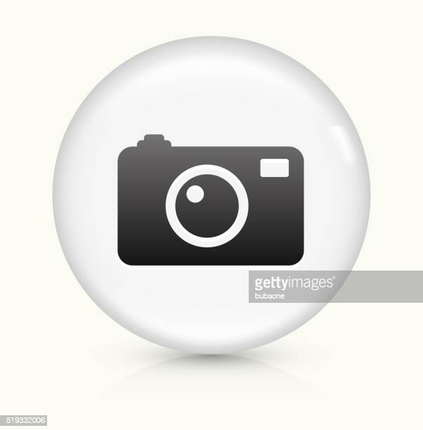 Digital Camera icon on white round vector button