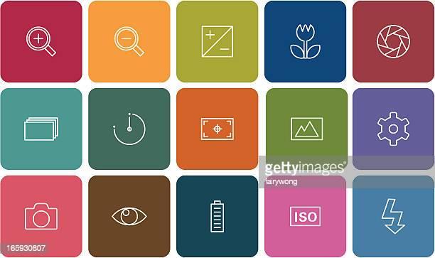 digital camera settings icons