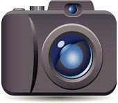 Digital Camera vector icon