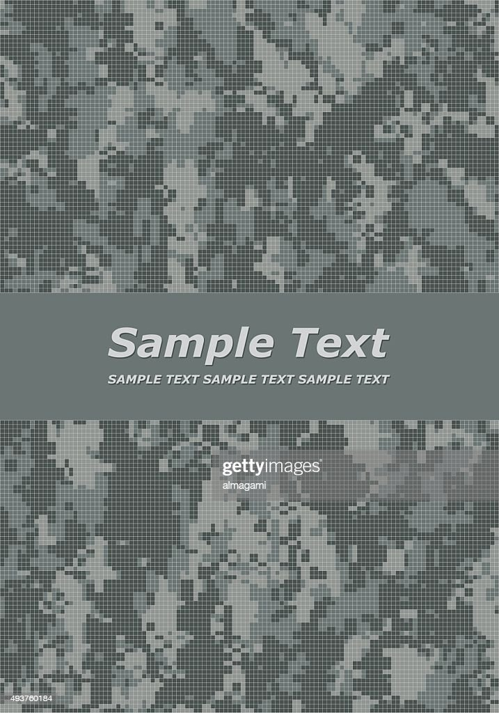 Digital camouflage cover page