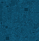 Digital Circuit Background. Texture of Processor, Motherboard
