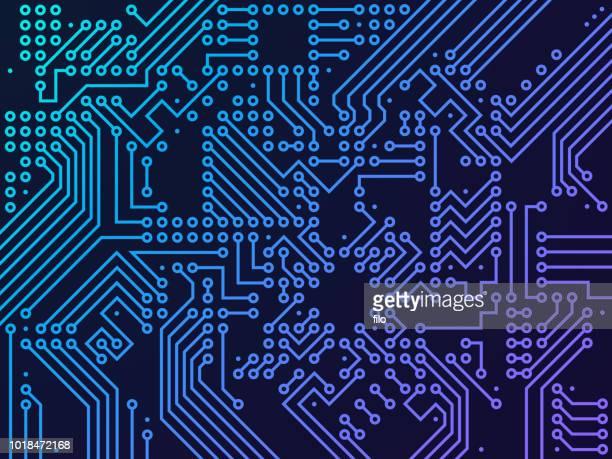 デジタル回路基板 - 回路基板点のイラスト素材/クリップアート素材/マンガ素材/アイコン素材