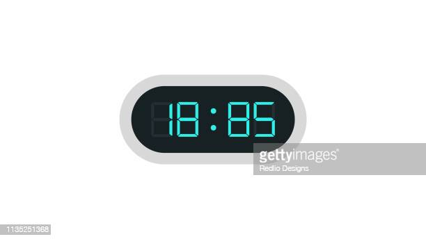 digital clock icon - timer stock illustrations