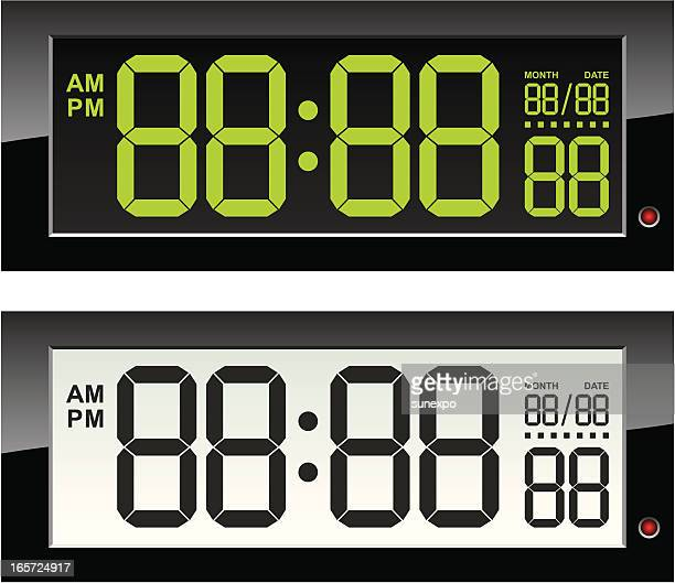 digital (electronic) clock - retail display stock illustrations
