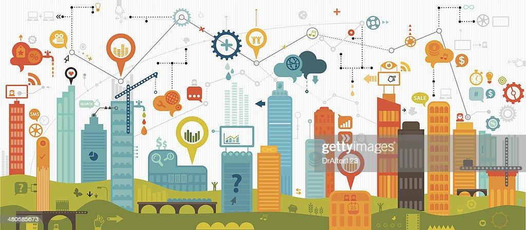 Digital Community : stock illustration
